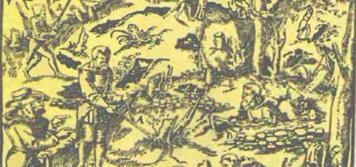 Гравюра из книги Георга Агриколы, XVI век.